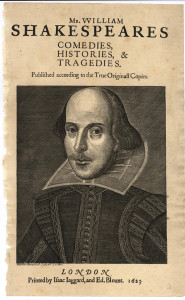 First Folio TP Portrait (1623)